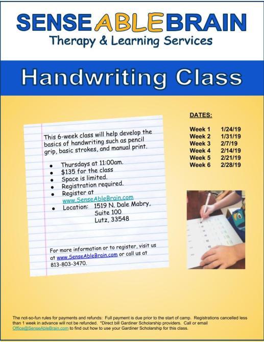 Handwriting Class (1)